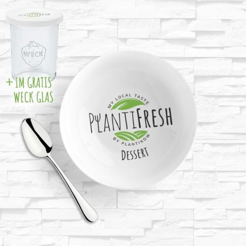 Das Dessert von PlantiFresh - Nachtisch nach Hause liefern lassen. Inklusive gratis Weck Glas